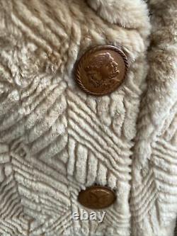 Fendi Vintage Pour Neiman Marcus Camel Couleur Rasé Fourrure Pleine Longueur Coat Look