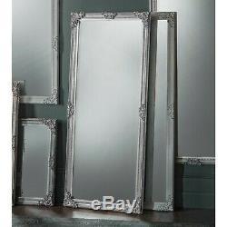 Fiennes Grand Silver Vintage Cadrage En Pied Plus Maigre Étage Mur Miroir 160cm X 70cm