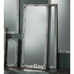 Fiennes Grand Silver Vintage Cadrage En Pied Plus Maigre Étage Mur Miroir 70cm X 160cm