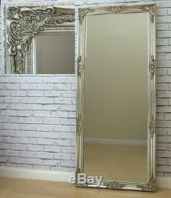 Florence Grand Champage Argent Leaner Cadrage En Pied Sol Miroir Mural 163cm X72cm