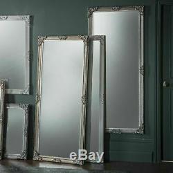 Flores Grand Silver Vintage Cadrage En Pied Plus Maigre Étage Mur Miroir 160cm X 70cm