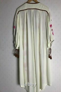 Free People Embroidered Maxi Kaftan Dress (taille L) Rrp £228