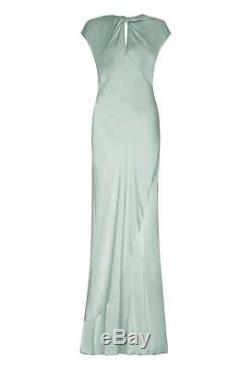 Ghost Hollywood Wendy Dusty Green Dress Taille L Rrp £ 225 Re077 DD 18