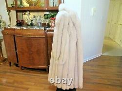 Glam Jindo Saga Superbe Qualité Blue Fox Full Length Coat Size Large/xlarge