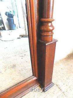 Grand, 7' Grand, Antique, Victorien, Acajou, Miroir De Jetée, Autoportant, Pleine Longueur