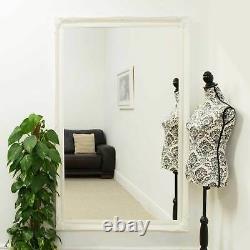 Grand Antique Blanc Full Length Long Wall Mirror 5ft6 X 3ft6 167cm X 106cm