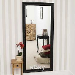 Grand Antique Design Cadrage Mur Noir Miroir 5ft3 X 163cm X 73cm 2ft5 Nouveau