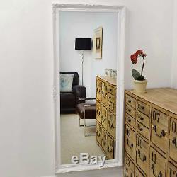 Grand Blanc Biseautées Cadrage En Pied Dressing Miroir Mural 5ft6 X 2ft6 168cmx76cm