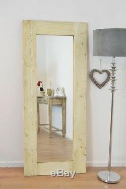 Grand Blanc En Bois Massif Miroir Cadrage 6ft X 2ft6 183cmcm X 76cm