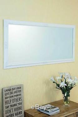 Grand Blanc Longueur Pleine Miroir Mural 5ft3 X 2ft5 X 160cm 73cm