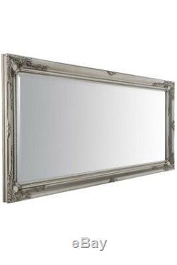 Grand Classique Ornement Cadrage Styled Argent Miroir 5ft7 X 170cm X 79cm 2ft7