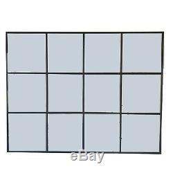 Grand Long Mur Miroir Leaner Cadrage En Pied Étage Style De Fenêtre Noir Chambre