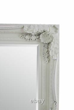 Grand Louis Cream Ivory Antique Full Length Leaner Wall Mirror 185cm X 123cm