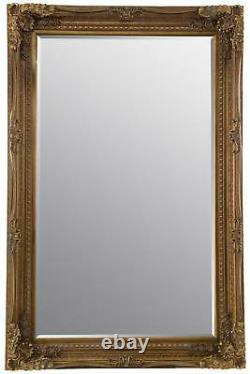 Grand Louis Gold Antique Full Length Leaner Floor Wall Mirror 185cm X 123cm