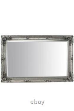 Grand Louis Silver Antique Full Length Leaner Floor Wall Mirror 185cm X 123cm