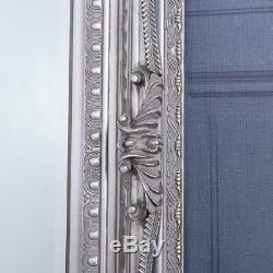Grand Miroir Argent Ornement Très Mur Cadrage En Pied Vintage Chic 173cm X 87cm