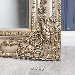 Grand Miroir De Champagne Fortement Orné Décor À La Maison De Mur Pleine Longueur 180cm X 90cm