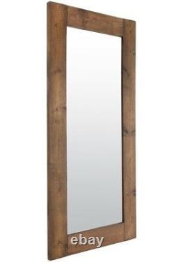 Grand Miroir De Mur En Bois Long Long De Pleine Longueur Normal 6ft X 3ft 179cm X 87cm