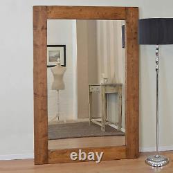 Grand Miroir De Mur En Bois Massif Pleine Longueur Long Leaner 5ft10 X 3ft10 178cm X 117cm