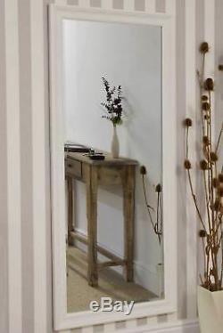 Grand Miroir Mural Antique Design Pleine Longueur Crème 5ft3 X 2ft5 163m X 73cm