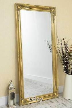 Grand Miroir Mural Cadrage En Pied Antique Styled Or 5ft7 X 170cm X 79cm 2ft7