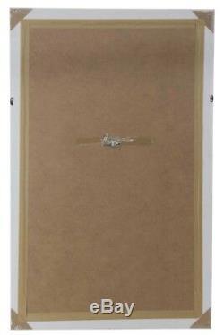 Grand Miroir Mural Extra Blanc Cadrage En Pied Vintage Biseautées 5ft6x3ft6 164cmx102cm