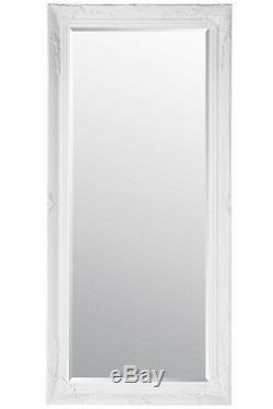Grand Miroir Mural Vintage Cadrage Ornement Styled Blanc 5ft7 X 170 X 79cm 2ft7