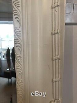 Grand Miroir Pleine Longueur, Cadre En Bois Blanc. Shabby Chic. Libre Ou Blocage
