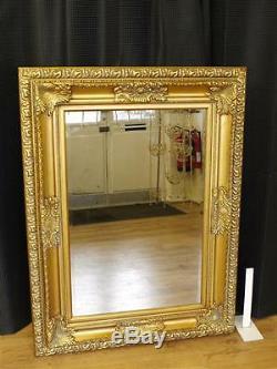 Grand Ornement Or Mur Miroir Miroir 124 Cadrage X 94