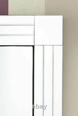 Grand Silver Full Length Long Venetian Wall Mirror 5ft9 X 2ft9 174cm X 85cm