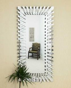 Grand Starbursttm Longueur Plancher Complet Mur Rectangulaire Salon Hall D'entrée Chambre Miroir