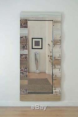 Grand Verre Tout Miroir Miroir Superbe Pleine 6ft7 X 201cm X 92cm 3ft