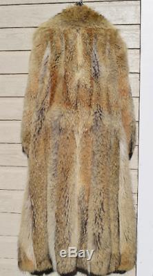 Grand XL 42 Bust Fantastique Coyote Fur Femmes Cadrage En Pied Manteau