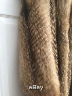 Grand XL Toute La Longueur Finlandais Raccoon Fourrure Frangée Stockage Sac Unisex