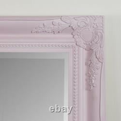 Grande Chambre Rose Ornée Mur Floor Mirror Leaner Chambre Pleine Longueur Haute Glamour