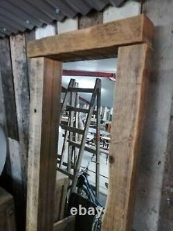Grande Régénérés Victorienne Pin Main Engrossé Miroir Warwick Reclamation