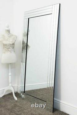 Grande Salle De Bains D'apprenant Pleine Longueur Miroir Mural Moderne 5ft8 X 2ft9 174cm X 85cm