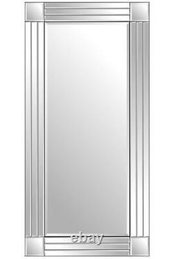 Grande Salle De Bains Pleine Longueur Miroir Mural Vénitien 5ft9 X 2ft9 174cm X 85cm