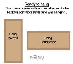 Hampshire Grand Décoratifs Argent Cadrage En Leaner Mur Sol Miroir 67 X 33