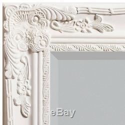 Hampshire Grande Crème Cadrage Décoratif Leaner Mur Sol Miroir 170 X 84cm