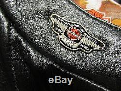 Harley-davidson Grand Savannah Veste En Cuir 98106-95vw Goujons Zips & Snaps