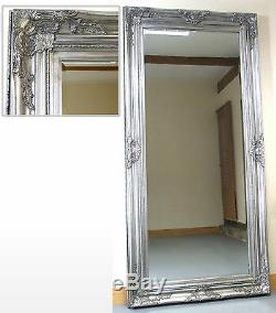 Harrow Extra Large Argent Rectangle Étage Longueur Plein Mur Miroir 67 X 33
