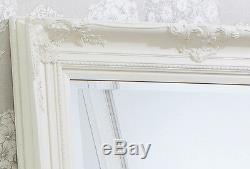 Harrow Extra Large Crème Vintage Rectangle Longueur Miroir Mural 173cm X 81cm