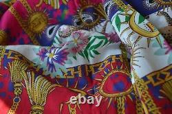 Hayley Menzies Pure Silk Longue Chemise Maxi Taille De Robe Large Nouveau Éblouissant