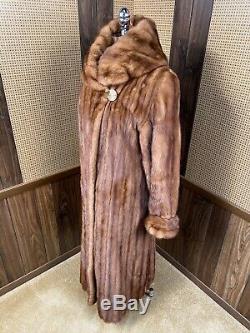 Incroyable Zinman Whisky Brown Cadrage En Pied 50 Long Manteau De Fourrure De Vison Grand 8 10