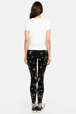 Johnny Was Callisto Leggings Legging Galaxy Embroidery Stars Pantalon Velours L Nouveau