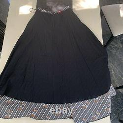 Jupe Noire Multi-impression Coton-poplin Maxi. États-unis 10/royaume-uni 14