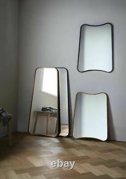 Kurva Leaner Hanging Mirror Grand Métal Noir Rustique Pleine Longueur 119.5cm X 56cm
