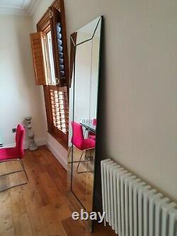 Laura Ashley Grande Pleine Longueur Gadsby Bevelled Mirror, Rare, Coût £500