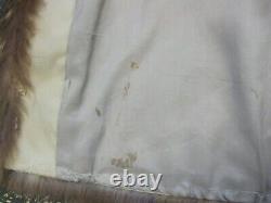 Longueur Totale Du Canada Manteau De Fourrure De Raton Laveur Avec Capuche, De Grande Taille, Nice Utilisé Cond